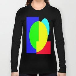 GETTING IN SHAPE - FUN SHAPED GEOMETRIC MULTI COLOURED DESIGN Long Sleeve T-shirt