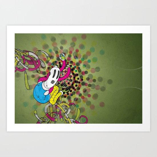 CMYK (Mysterious printer goblin) Art Print