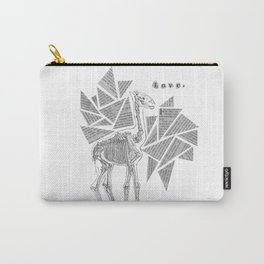 Skeletal Giraffe Carry-All Pouch