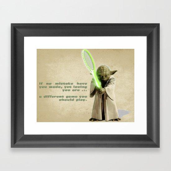 Yoda Squasher  Framed Art Print