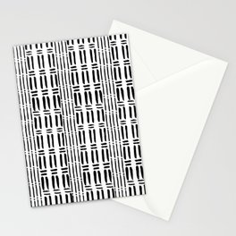 Black white hand painted watercolor brushstrokes pattern Stationery Cards