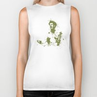 murray Biker Tanks featuring Andy Murray Wimbledon Tennis by DanielBergerDesign