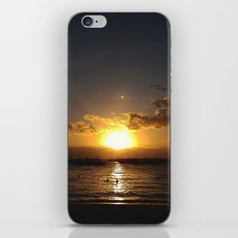Sunset By The Beach iPhone Skin