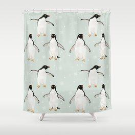PENGUIN FELLOWSHIP Shower Curtain