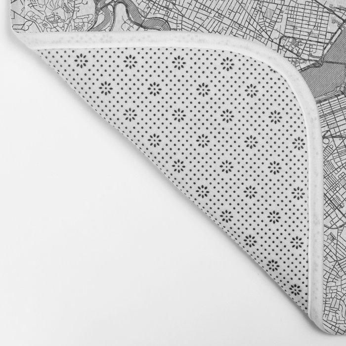 Boston Map Line Bath Mat