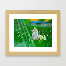 Bizet's Unicorn Framed Art Print