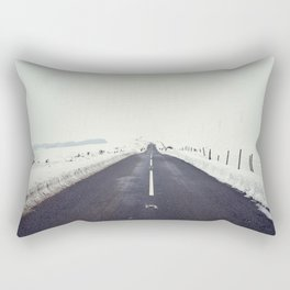 Mountain Snow Road Rectangular Pillow