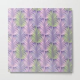 Ultra violet tropical palm leaves seamless pattern. Metal Print