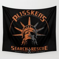 discount Wall Tapestries featuring Snake Plissken's Search & Rescue Pty. Ltd. by 6amcrisis