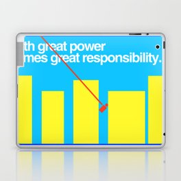 Minimal Superhero Poster Laptop & iPad Skin