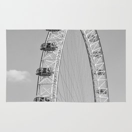 The London Eye (Black and White) Rug