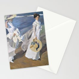 "Paseo a orillas del mar ""Promenade au bord de la mer"", Joaquín Sorolla, 1909 Stationery Cards"