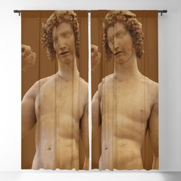 "Michelangelo Buonarroti ""Bacchus"" Blackout Curtain"