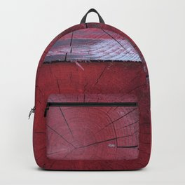 4 red wooden blocks Backpack