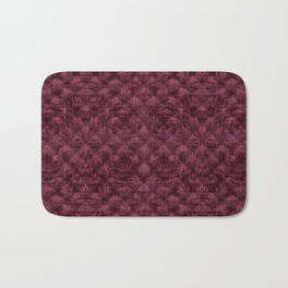 Quilted Maroon Velvety Pattern Bath Mat