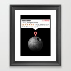 If this moon was just any place Framed Art Print