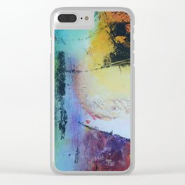 Rising sun colourful abstract acrylic Clear iPhone Case