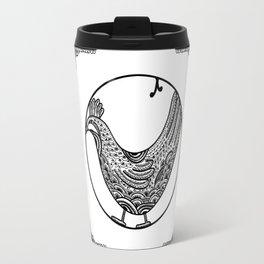 Chicken Pen Draw by WildArtLine Travel Mug