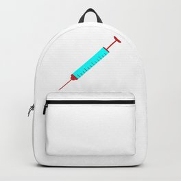 Simple Cartoon Style Hypodermic Needle Backpack