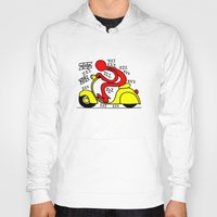 vespa Hoodies featuring Vespa! by Gian Piero Mongiu