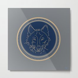 Wolf Seal (preppy collection) Metal Print