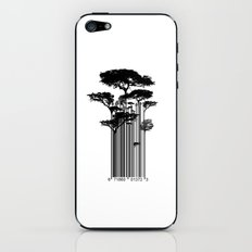 Barcode Trees illustration  iPhone & iPod Skin
