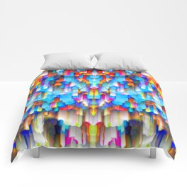 Colorful digital art splashing G397 Comforters