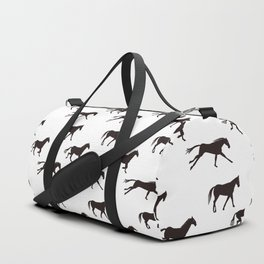 a horse runs Duffle Bag