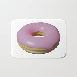 Pink Frosted Donut Bath Mat