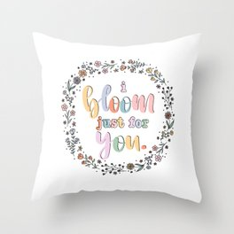 i bloom just for you troye sivan lyric art Throw Pillow