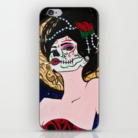 day of the dead iPhone & iPod Skins featuring Day of the Dead by J. Nicole