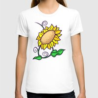 sunflower T-shirts featuring Sunflower by Artistic Dyslexia