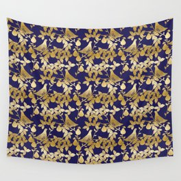 Partridge in a Pear Tree Christmas pattern Wall Tapestry