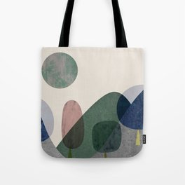 Trees and mountains Tote Bag