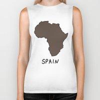 spain Biker Tanks featuring Spain by Roman Jones