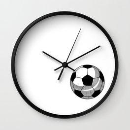 Soccer Ball Love Heart Sport Goal Game Team Gift Wall Clock