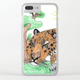 Indian Leopard Clear iPhone Case