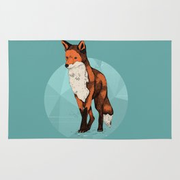 Ice Fox  Rug