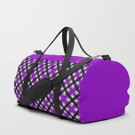 Combo black purple plaid Duffle Bag