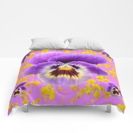 LILAC  PANSY SPRING DAFFODILS ART Comforters