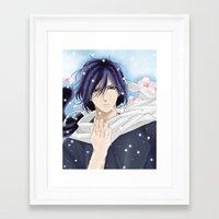 samurai Framed Art Prints featuring Samurai by Panda Cool