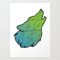 Hear me Howl (white) Art Print