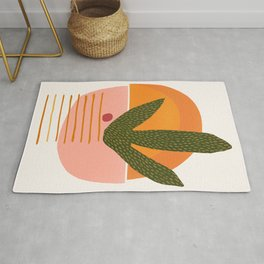Desert Sunset With Cactus and Cherry Rug