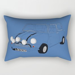 The Italian Job Blue Mini Cooper Rectangular Pillow