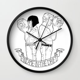 Find Me In The Drift Wall Clock