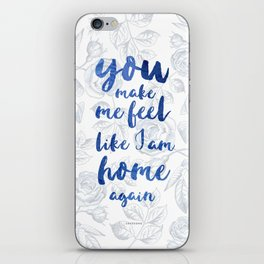 LOVESONG ROSES BLUE iPhone Skin