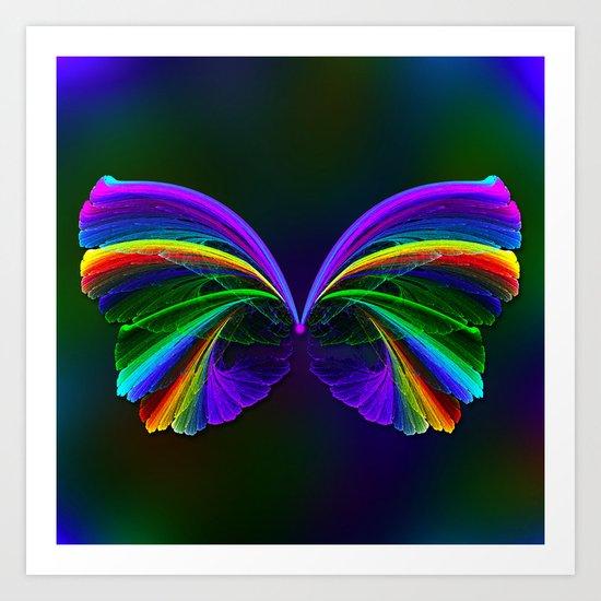 Rainbow Butterfly Art Print