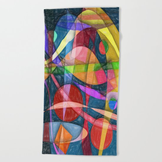 Abstract #398 Beach Towel