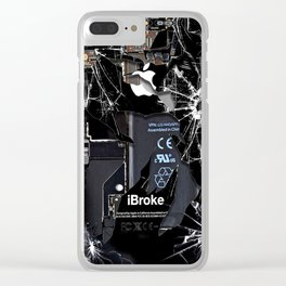 Broken Damaged Cracked out handphone iPhone Clear iPhone Case