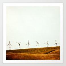 California Windmills Art Print